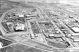 Rocky Flats aerial shot - 1988