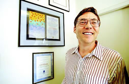 Carl Wieman, CU distinguished professor, in June 2005